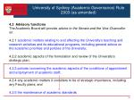 university of sydney academic governance rule 2003 as amended4
