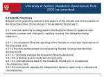 university of sydney academic governance rule 2003 as amended5