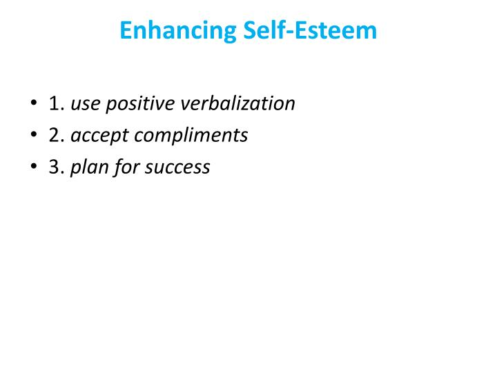Enhancing Self-Esteem