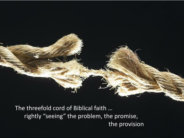 The threefold cord of Biblical faith …
