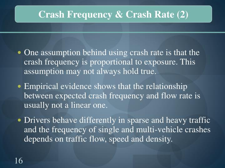 Crash Frequency & Crash Rate (2)