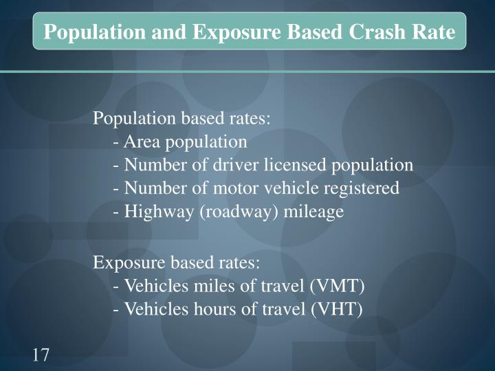 Population and Exposure Based Crash Rate