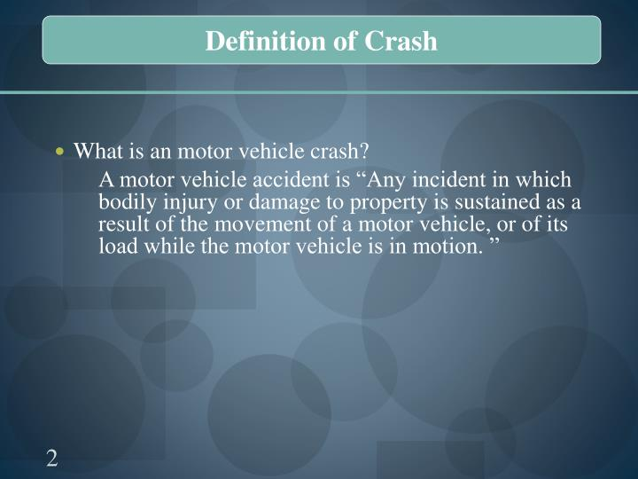 Definition of Crash