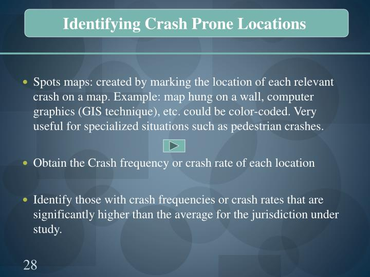 Identifying Crash Prone Locations