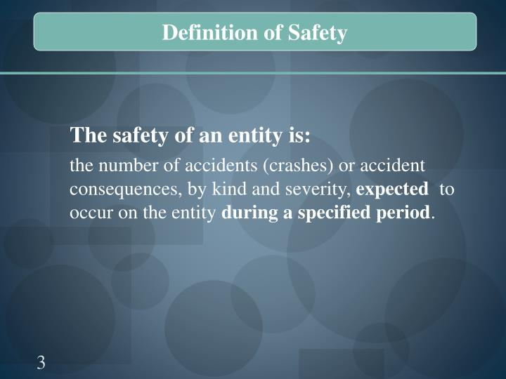 Definition of Safety