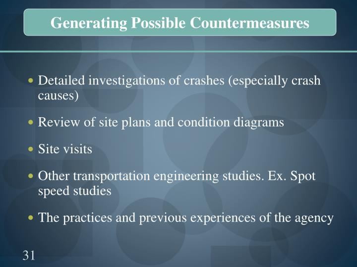 Generating Possible Countermeasures