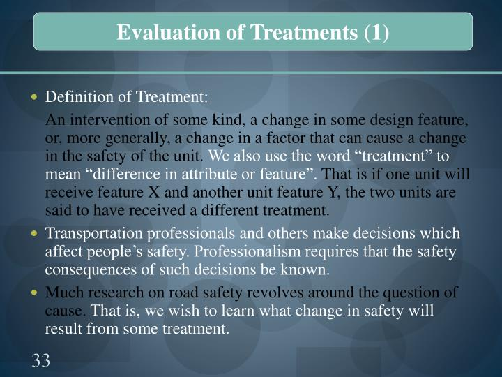 Evaluation of Treatments (1)