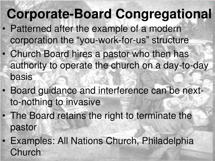 Corporate-Board Congregational