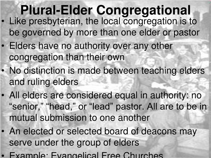 Plural-Elder Congregational
