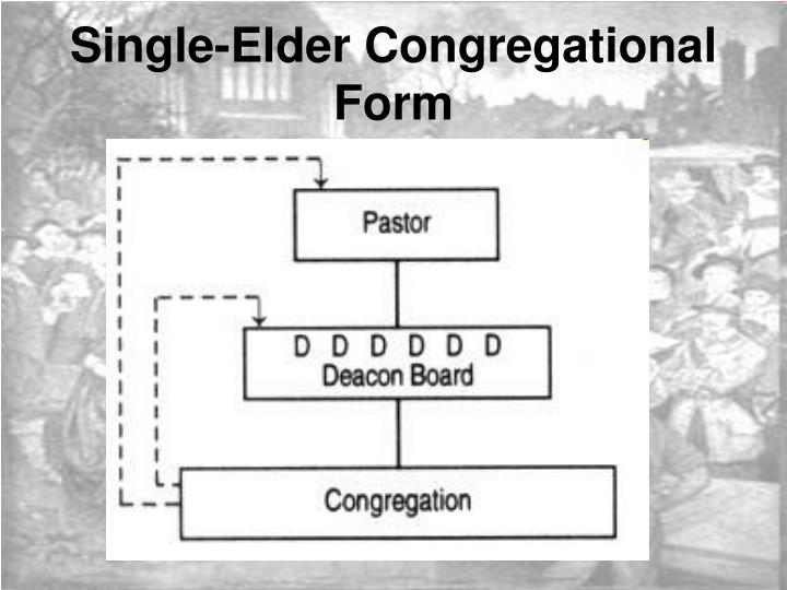 Single-Elder Congregational Form