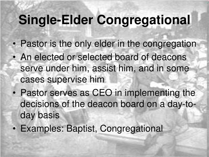Single-Elder Congregational