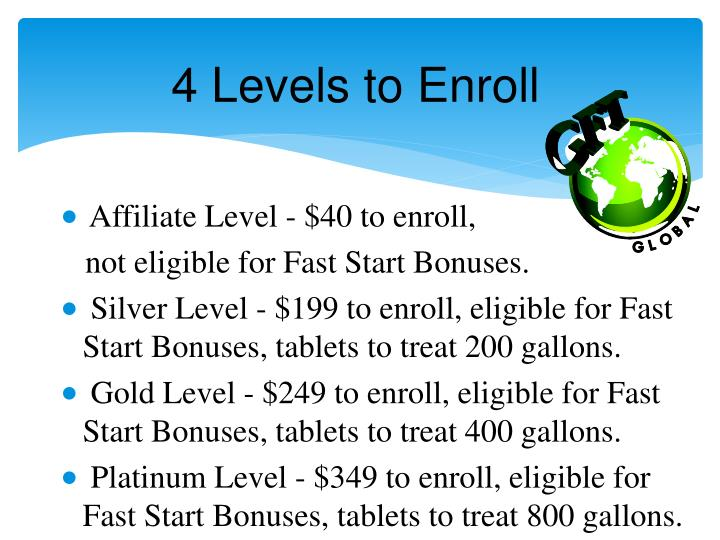 4 Levels to Enroll