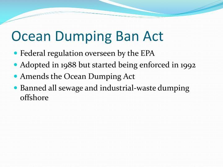 Ocean Dumping Ban Act