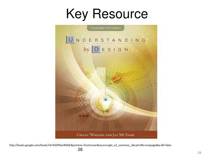 Key Resource