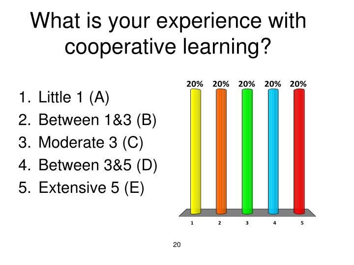 What is your experience with cooperative learning?