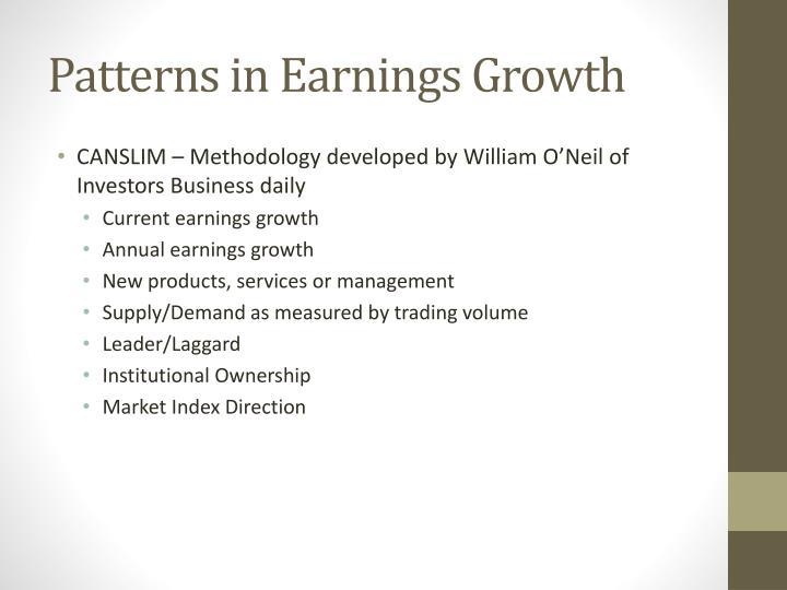 Patterns in Earnings Growth
