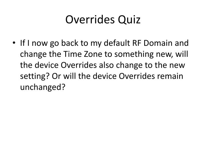 Overrides Quiz
