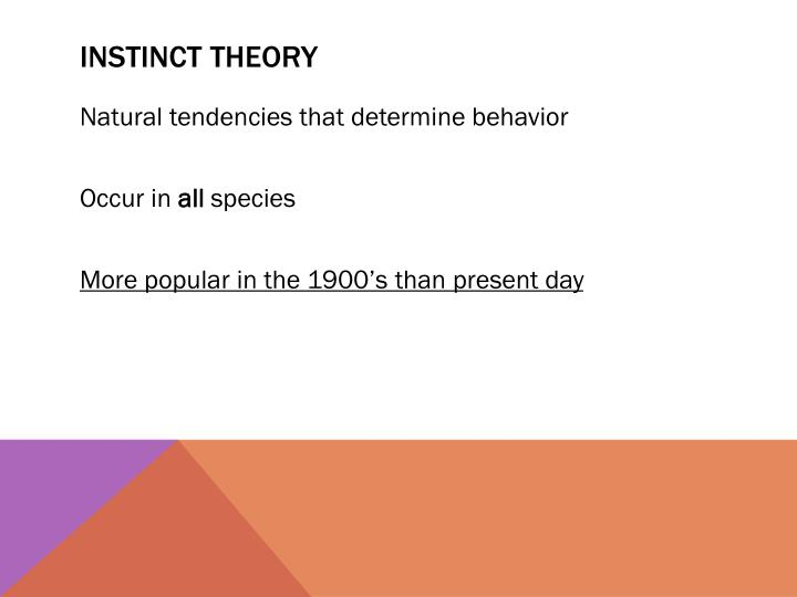 Instinct theory