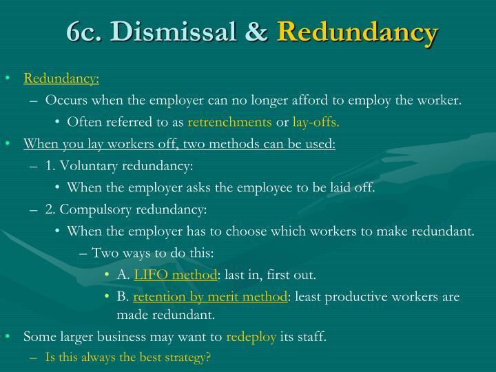 6c. Dismissal &