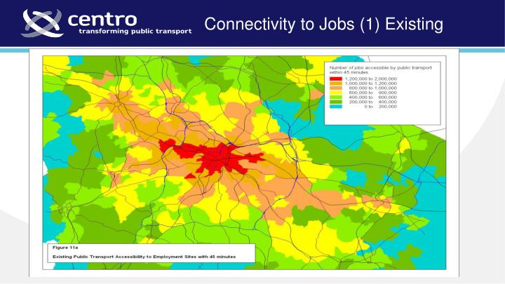 Connectivity to Jobs (1) Existing