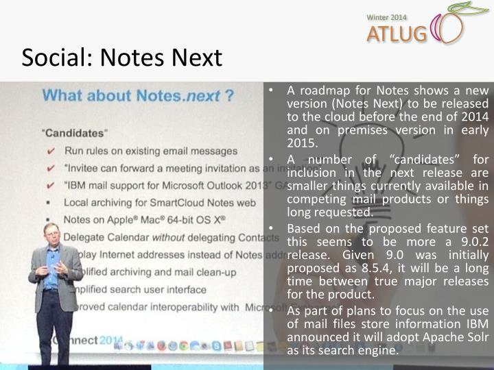 Social: Notes Next