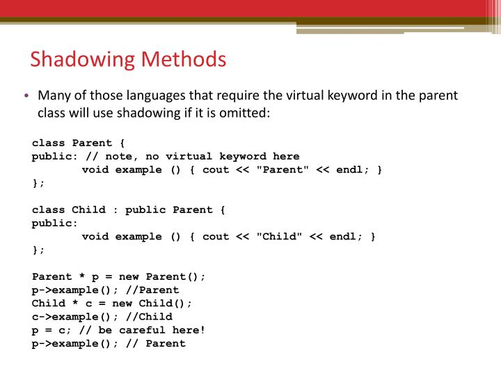 Shadowing Methods