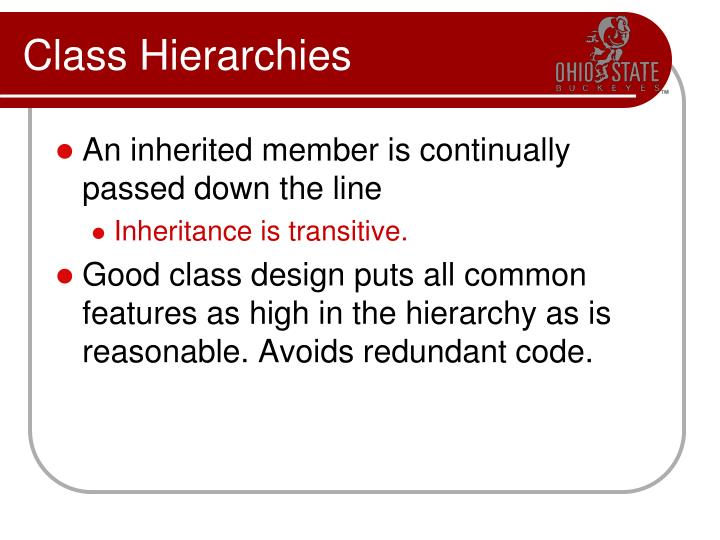 Class Hierarchies