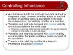 controlling inheritance