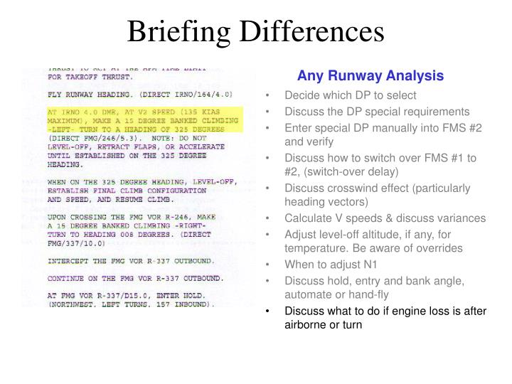 Any Runway Analysis