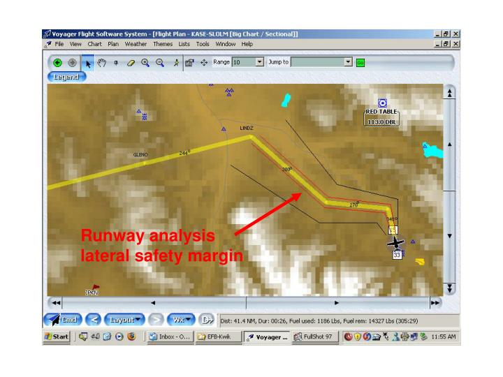 Runway analysis lateral safety margin