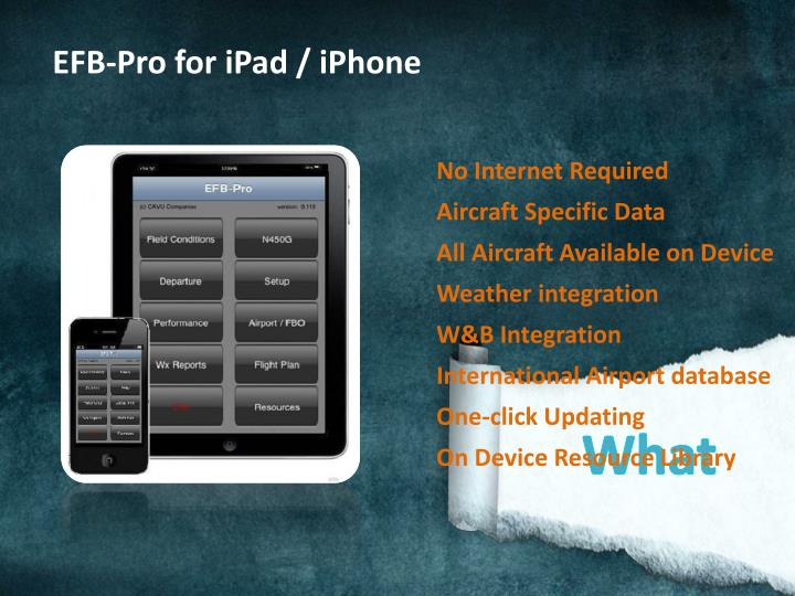 EFB-Pro for iPad / iPhone