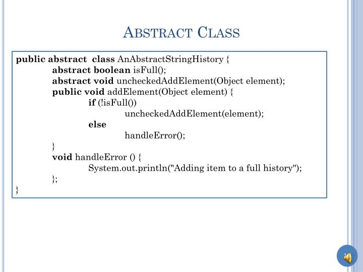 Abstract Class