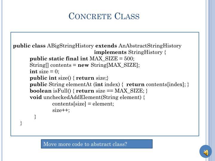 Concrete Class