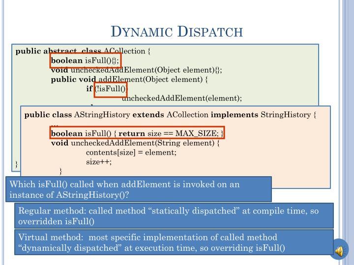 Dynamic Dispatch