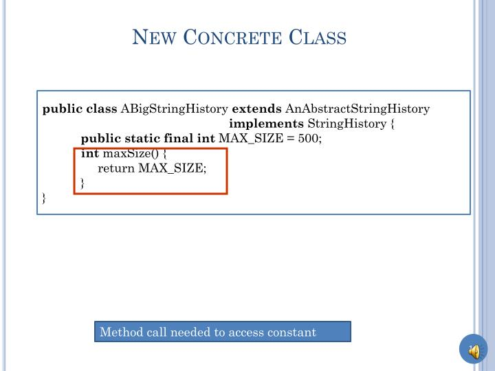 New Concrete Class