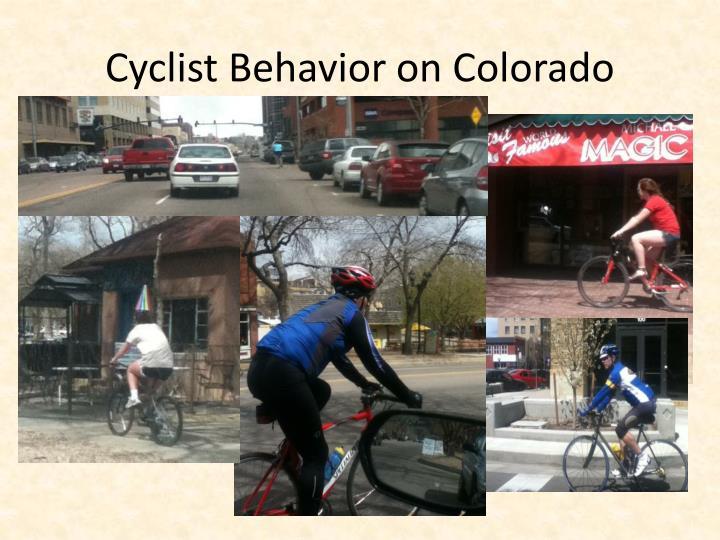 Cyclist Behavior on Colorado