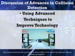discussion of advances in collision detection1