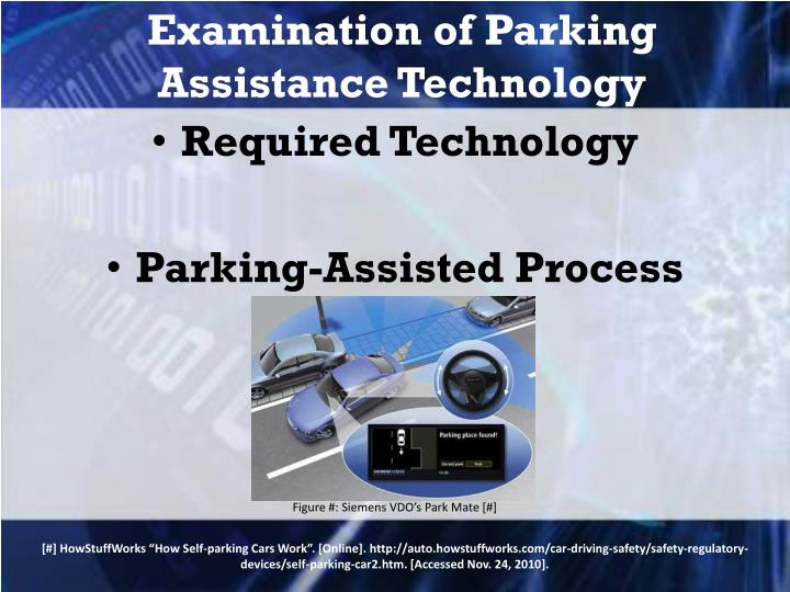 Examination of Parking Assistance Technology