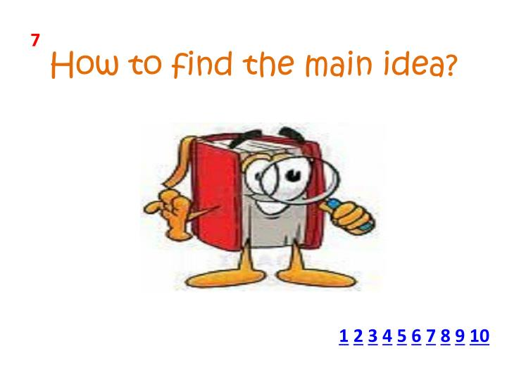 How to find the main idea?