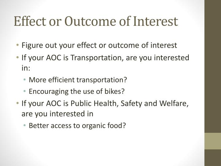 Effect or Outcome of Interest