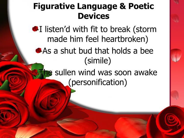 Figurative Language & Poetic Devices