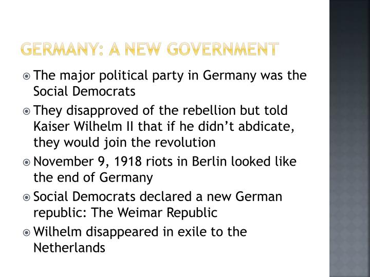 Germany: A new Government