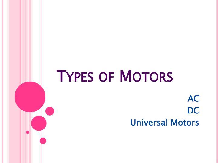 Types of Motors