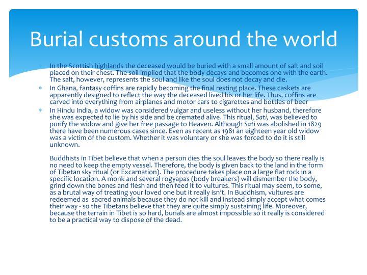 Burial customs around the world