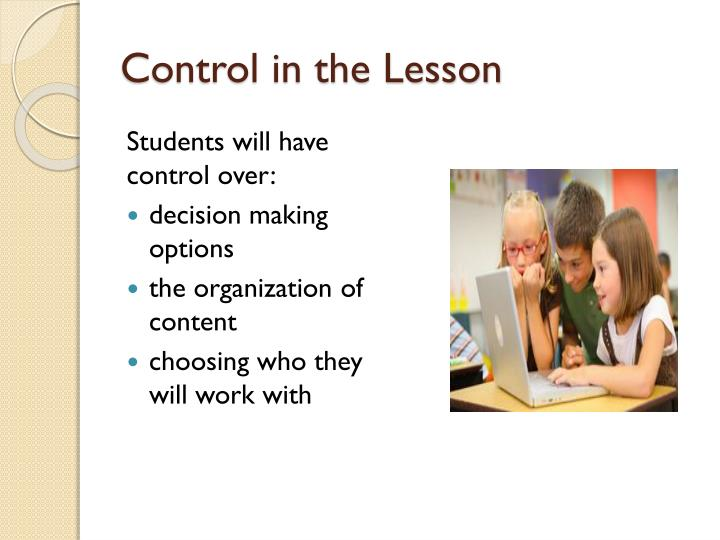 Control in the Lesson