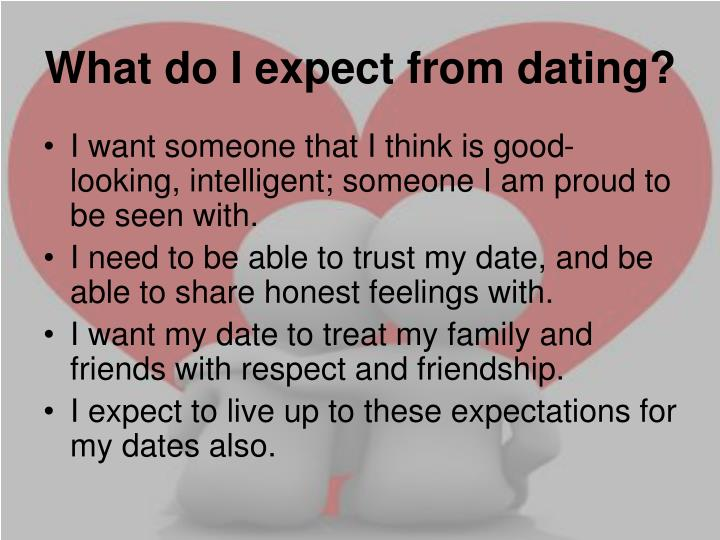 What do I expect from dating?