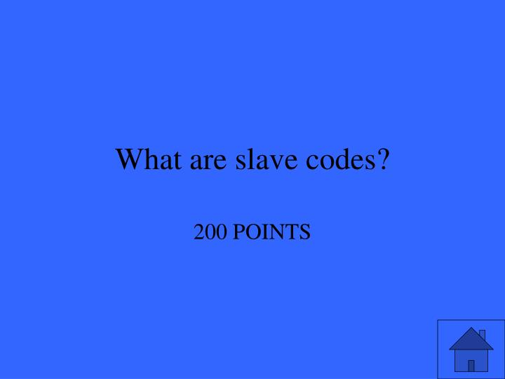 What are slave codes?