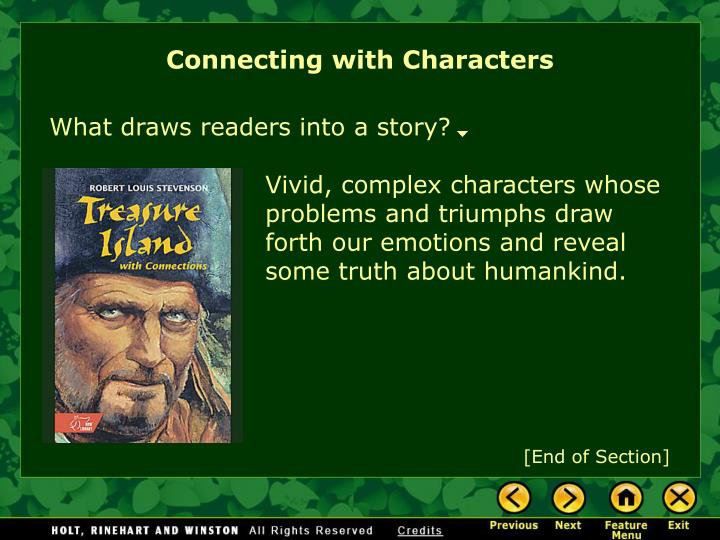Connecting with Characters