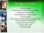 vital signs of success