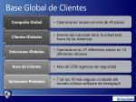 base global de clientes